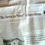 """Articolo """"Villa Beria in Tour a Barcelona"""""""